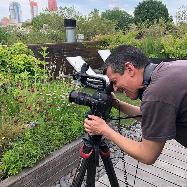 That's a wrap. A big thank you goes to the amazingly talented (and incredibly patient) James and David  of @openhousetv for a day of shooting my rooftop garden for an upcoming episode of Openhouse  NYC.  Date, TBD, but stay tuned!!!
