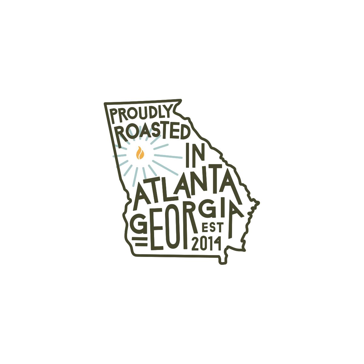 Georgia coffee roaster custom illustration