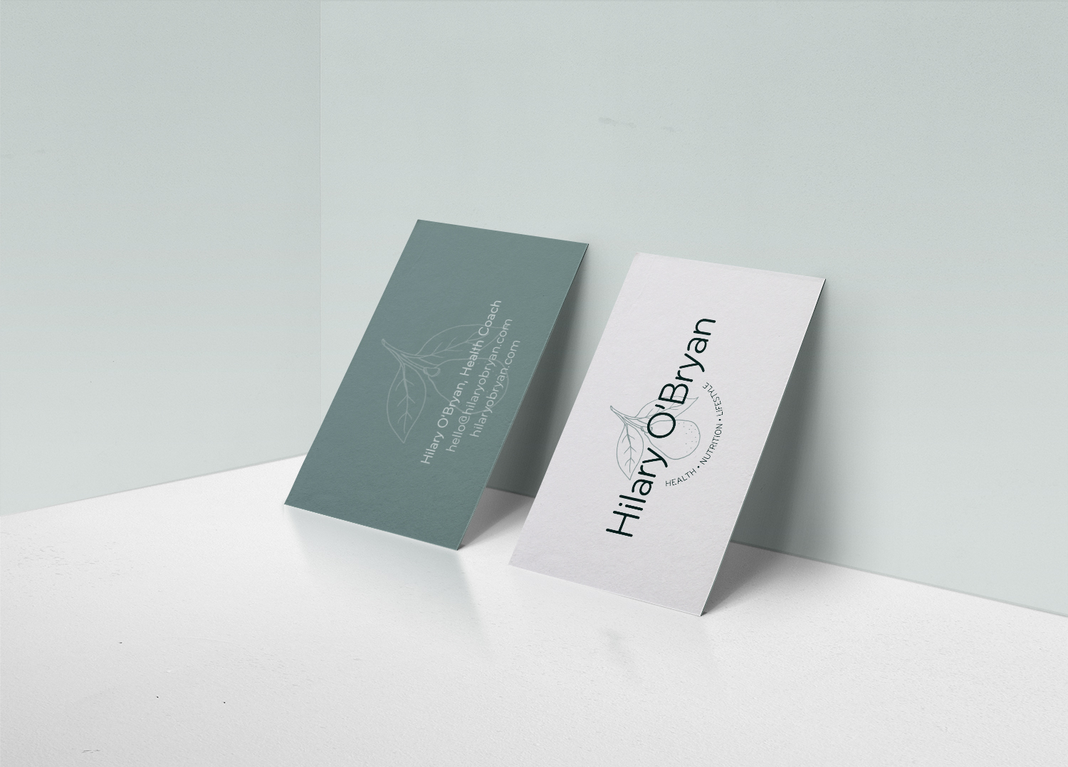 business card design detail, front and back