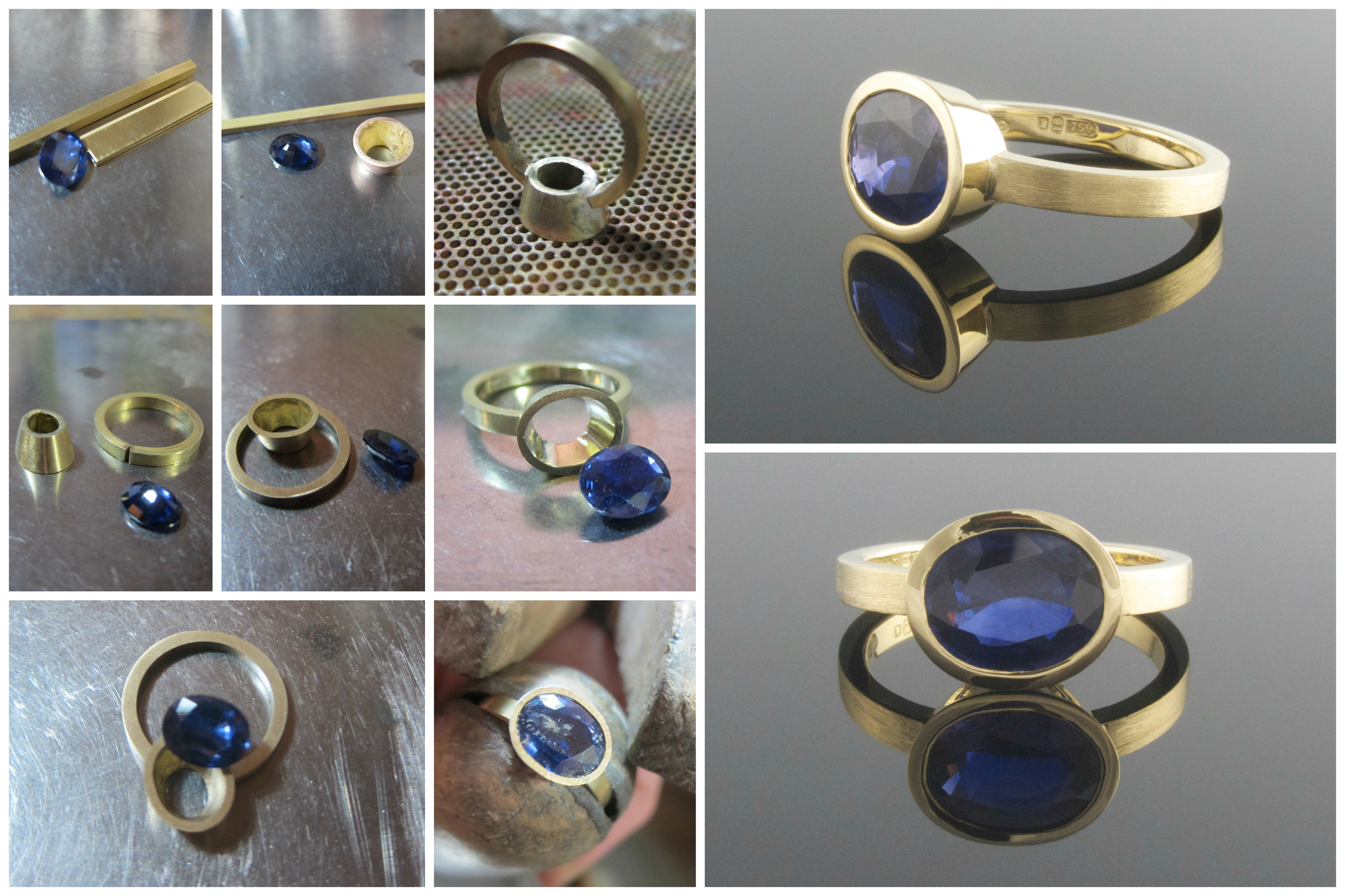 Making a sapphire engagement ring