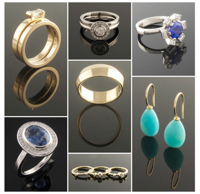 Collage of handmade jewellery