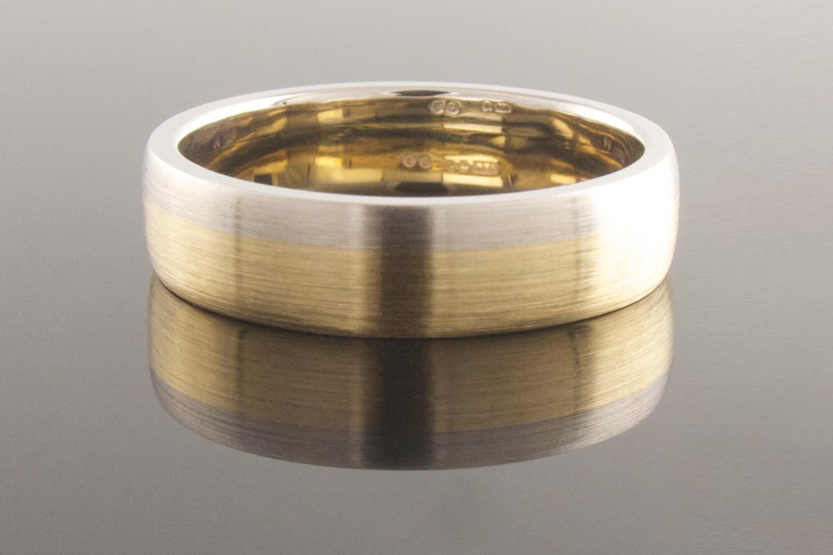 Two-tone platinum and yellow gold ring