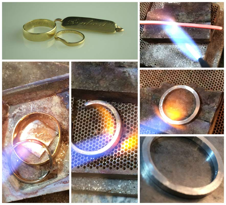 Remelting the old gold and turning up the new platinum band