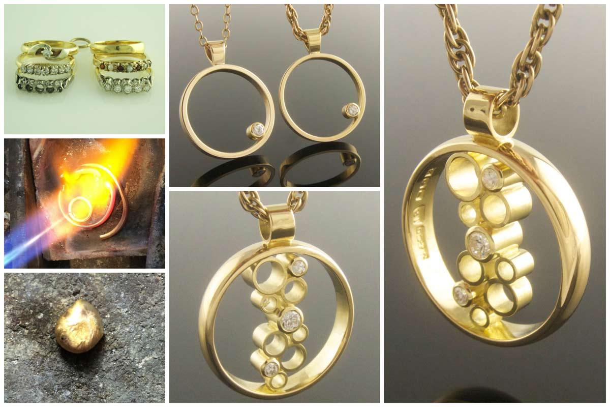 Diamond circle pendants
