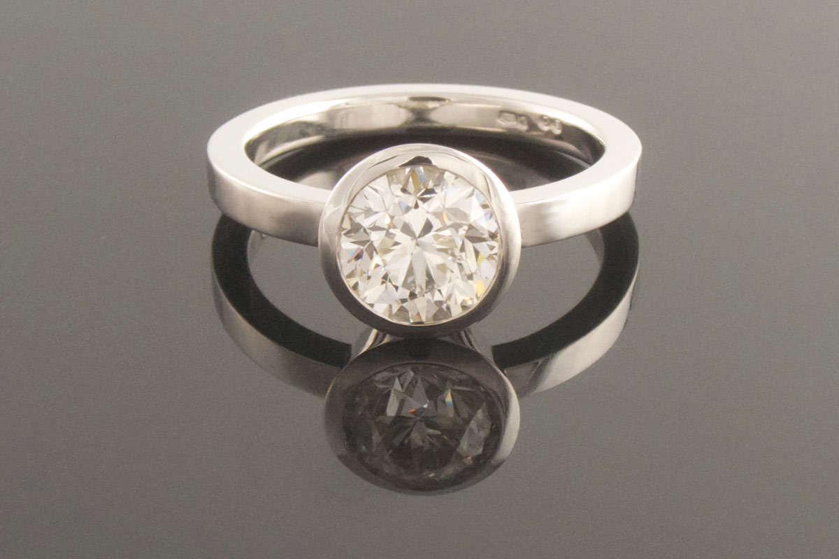 Platinum solitiare engagement ring