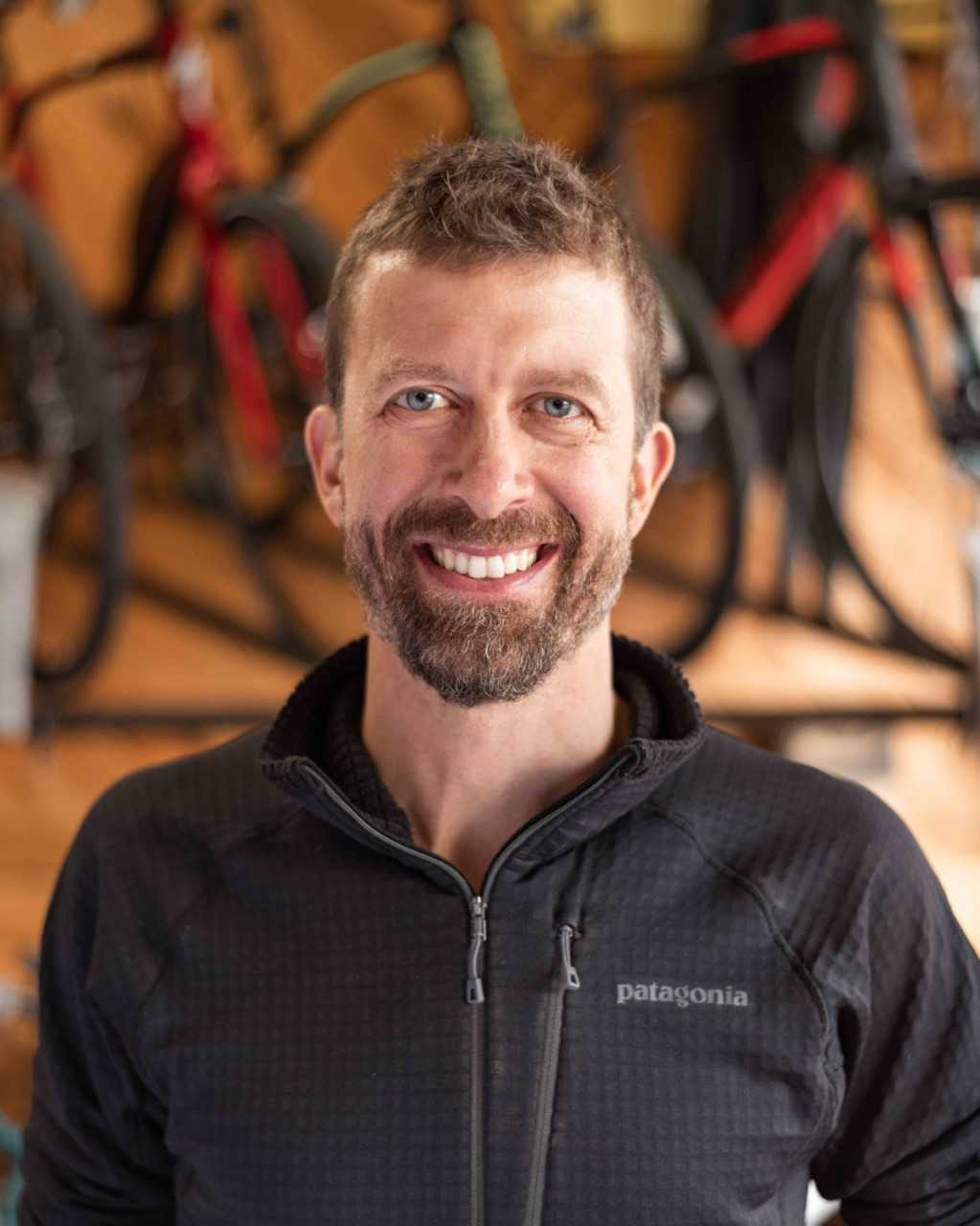 Erik    Hometown:  Rural Valley, PA   Experience:  Has owned the shop since 2005 and has been a competitive cyclist triathlete and runner since 1989.   Favorite Bike:  The Cannondale Slate   What do you do when you are not on the bike?  Loves to run, build things in his workshop, and playing with his dog.