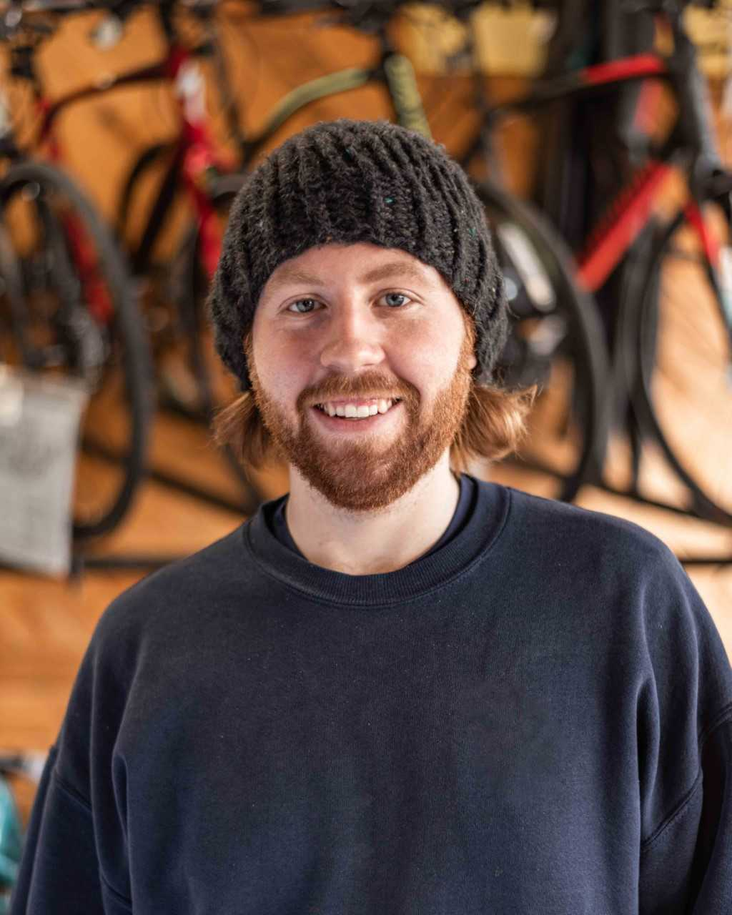 Connor    Hometown:  Philadelphia, PA   Experience:  Has been working at the shop since 2017 and has ridden bikes seriously as a hobby for about 4 years.   Favorite Bike:  The Santa Cruz   What do you do when you are not on the bike?  Enjoys watching movies, considers himself a big movie buff.