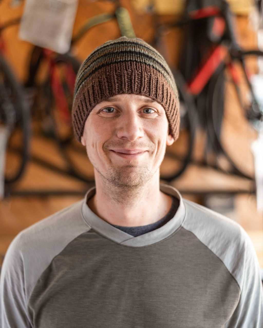 Adam    Hometown:  State College, PA   Experience:  Has worked here since November 2018. Has been riding bikes seriously for the past 20 years.   Favorite Bike:  The Schwinn Twin   What do you do when you are not on the bike?  Really enjoys spending time outdoors.