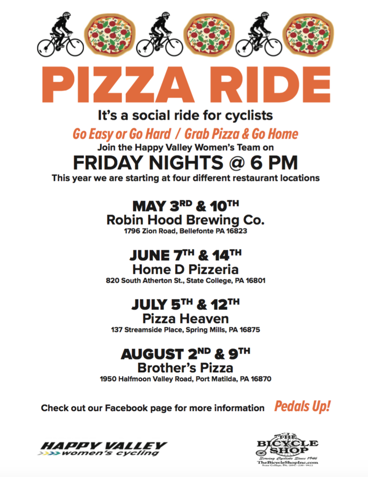 bf5bd489 Join the Happy Valley Women's Team for Pizza Rides: a social ride ...