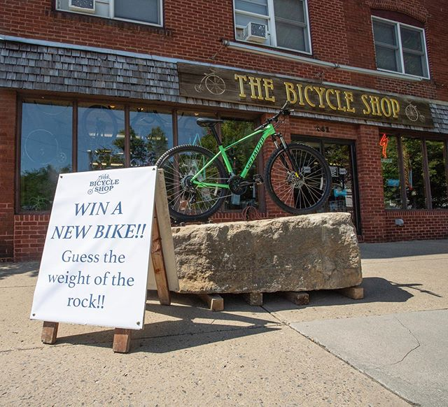 Coming back to school? Come check out the giant rock in front of the shop! Guess the weight of the rock correctly and win a Specialized Rockhopper, which is valued at more than $500. . . @hvwcbicycleshopteam @statecollegecyclingclub #backtoschool #psu #pennstate #happyvalley #statecollege #bike #bicycle #ridecentralpa #ridepa #contest #centrecounty #thebicycleshop #bikeride #bikegang