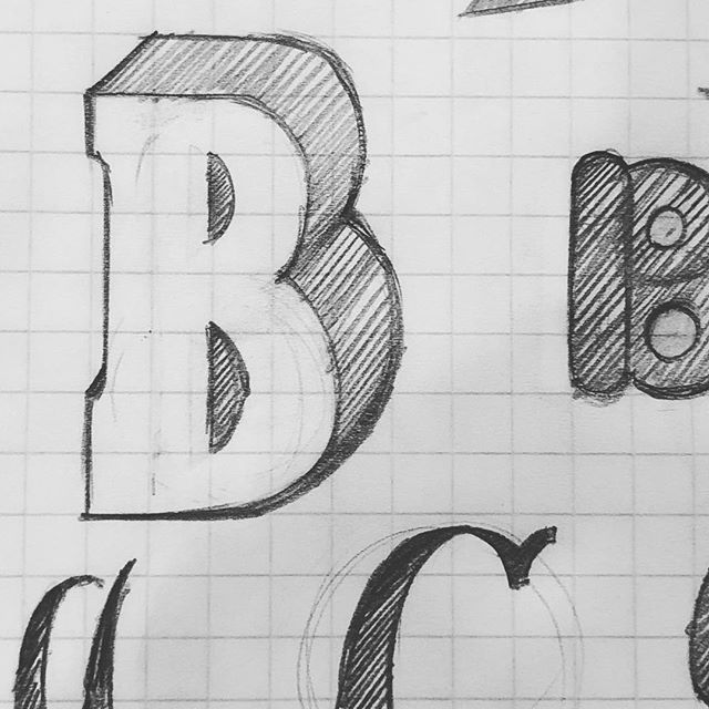 Because it seems I'm the only one not doing it.  #36daysoftype #letter_b #lettering #pencilsketch #process #design #36days_b #letterarchive_b #handtype #handdrawntype #36daysoftype2019 #typematters #typedesign #handmadefont  #blackandwhite #bw
