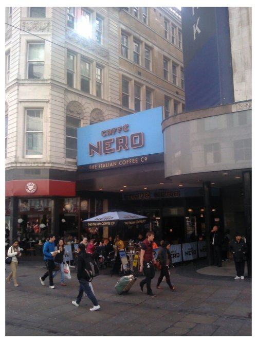 Cafe Nero stands in what was an entrance to Lewis's Arcade