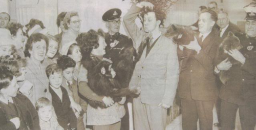 Ken Dodd with the exotic animals