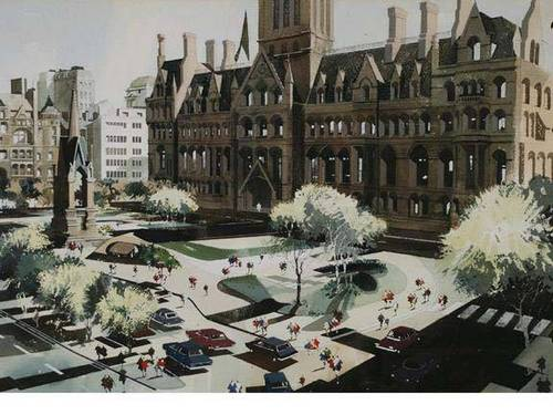 Albert Square landscaped for the Picc-Vic line
