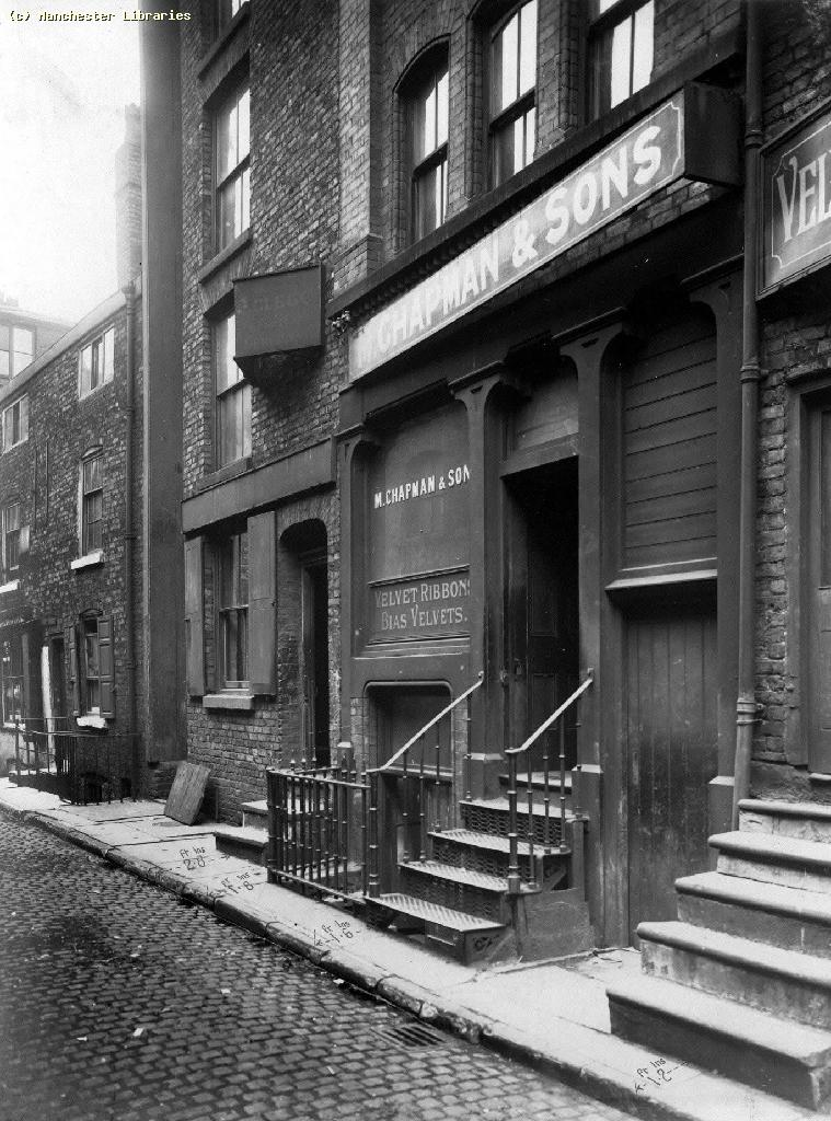 That same building, 1918. M Chapman and Sons - velvet specialist