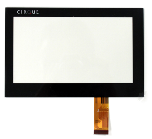 This is a 7 inch glass touch panel. The electrode grid is composed of essentially invisible ITO.
