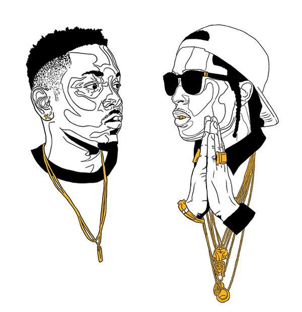 Kendrick Lamar and A$AP Rocky