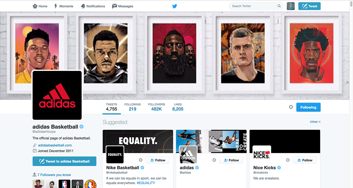 Adidas Twitter Takeover