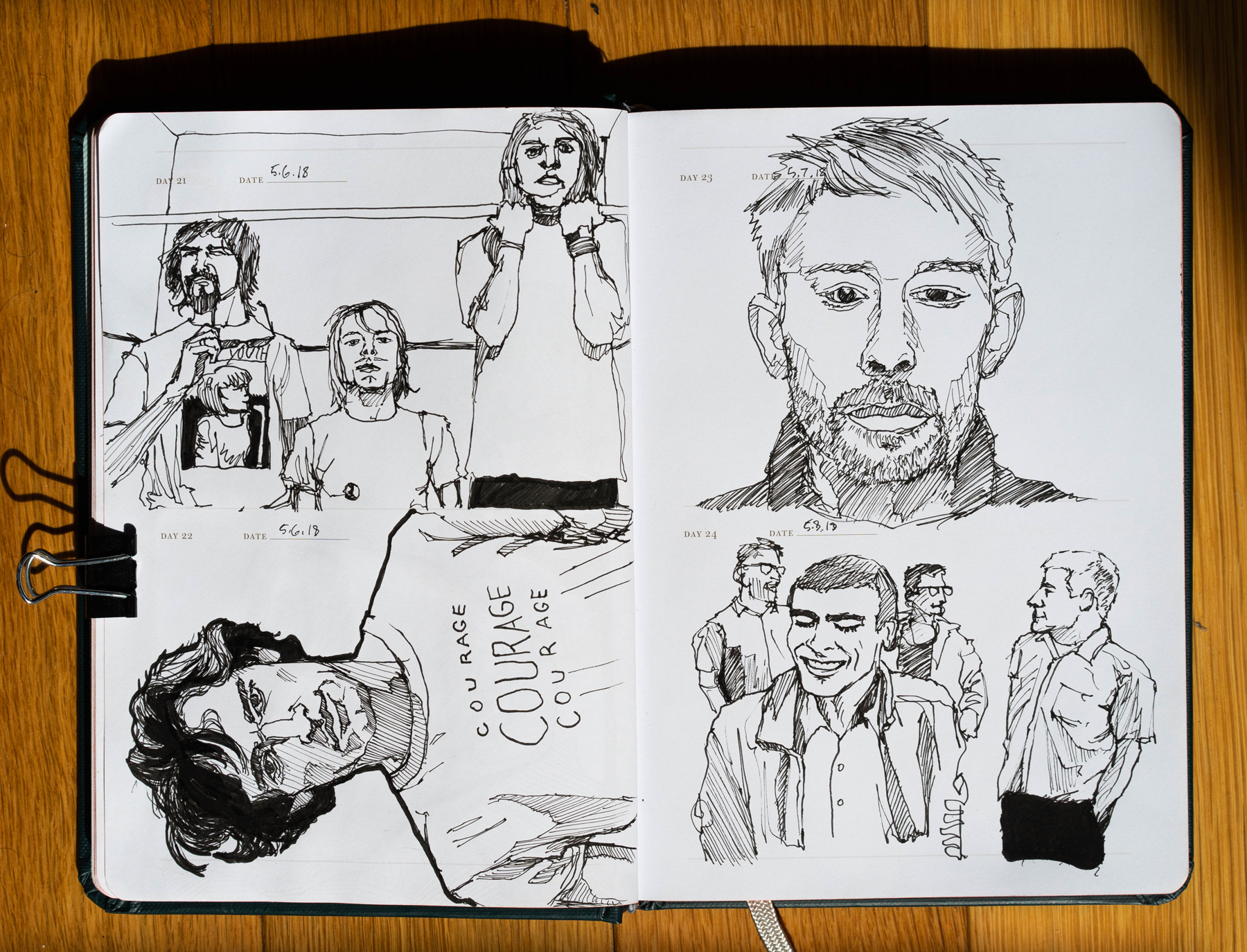 Daily Pages: 90s Bands