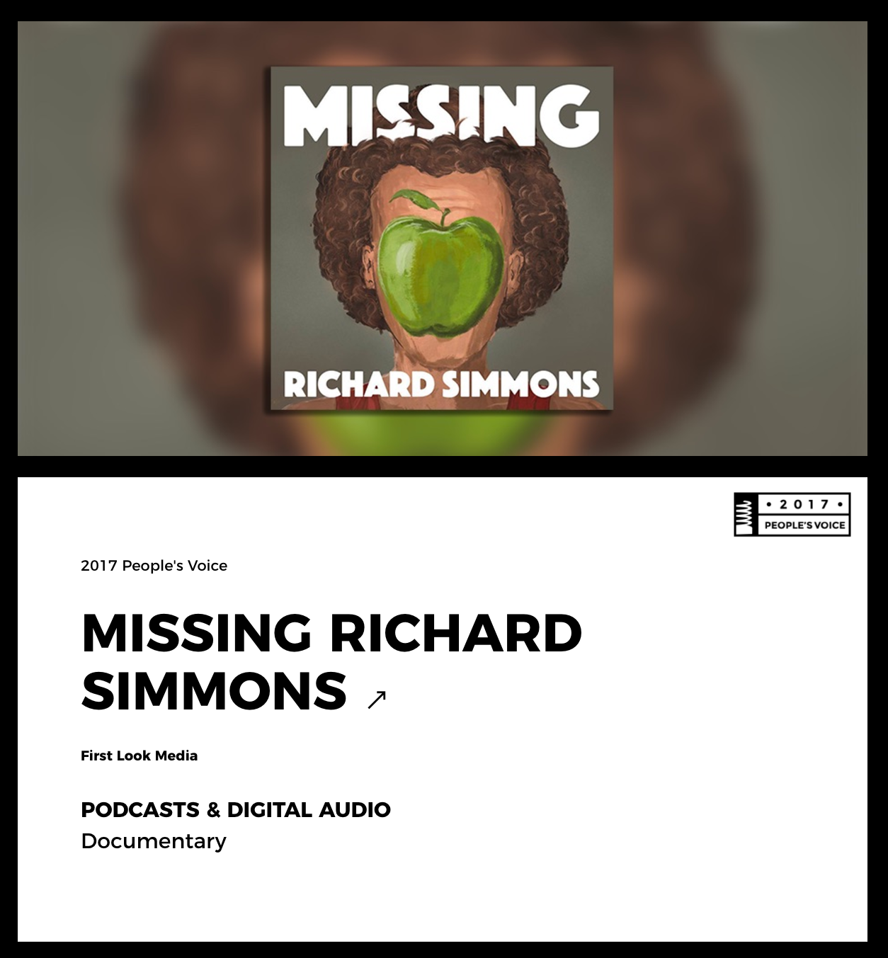 Richard Simmons Webby Award