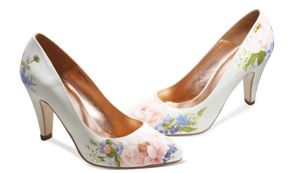 Wildflower and Butterfly wedding Shoes