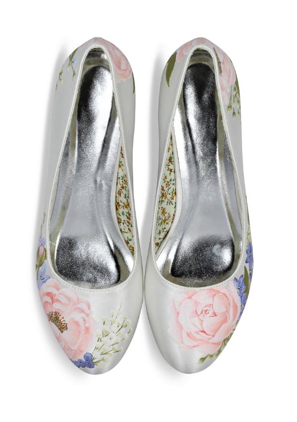 Peony & Lilac kitten heels