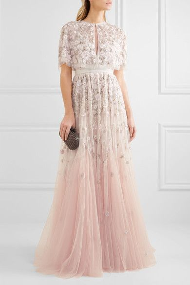 Needle and thread blush wedding dress