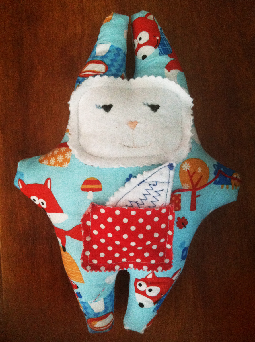 Snuggle Bunny with Hedgehog (SOLD)