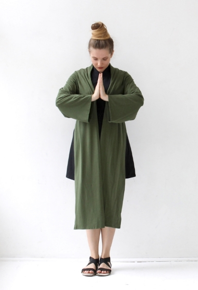 Kimono-wrap-moss-green