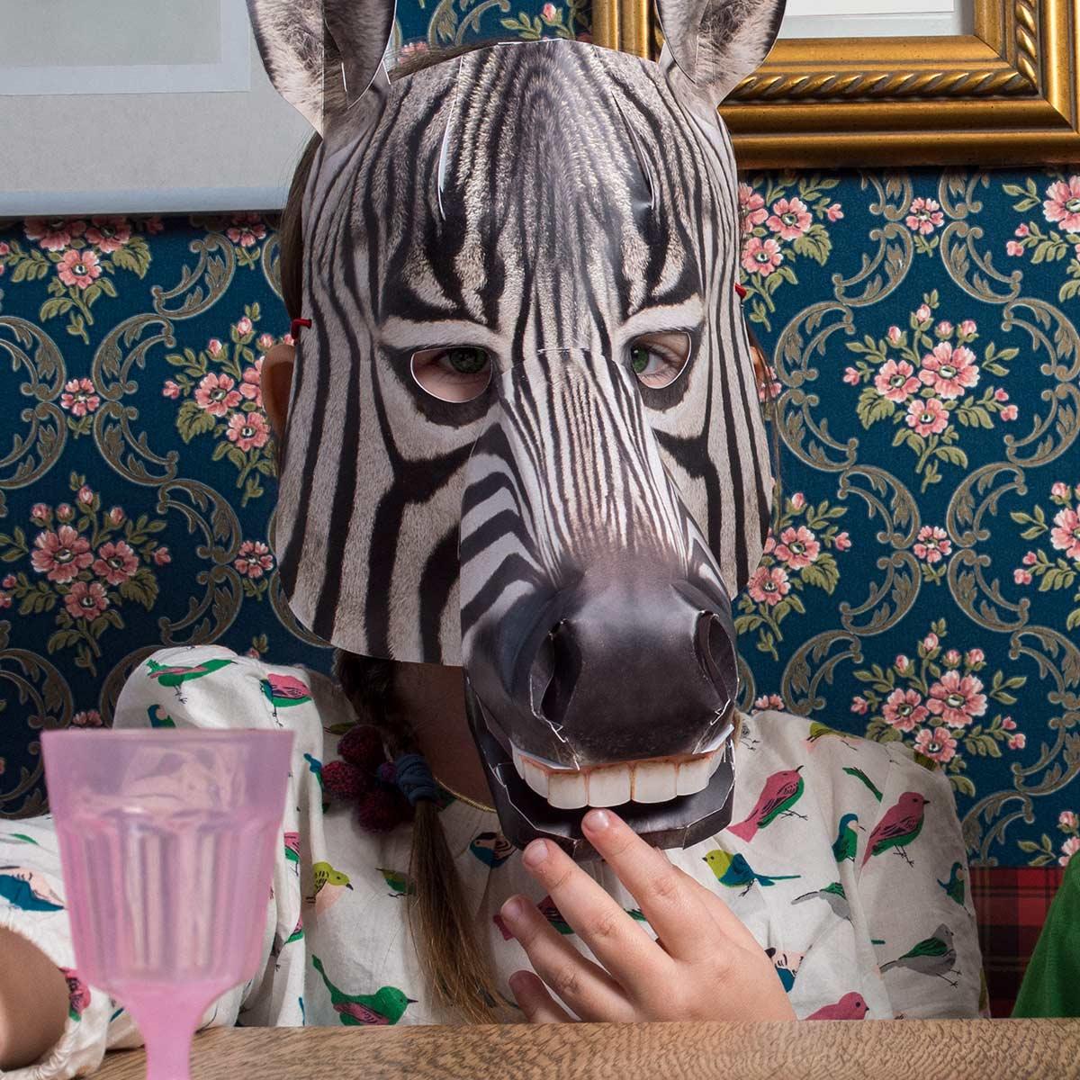 Zebra, mit Schluckauf