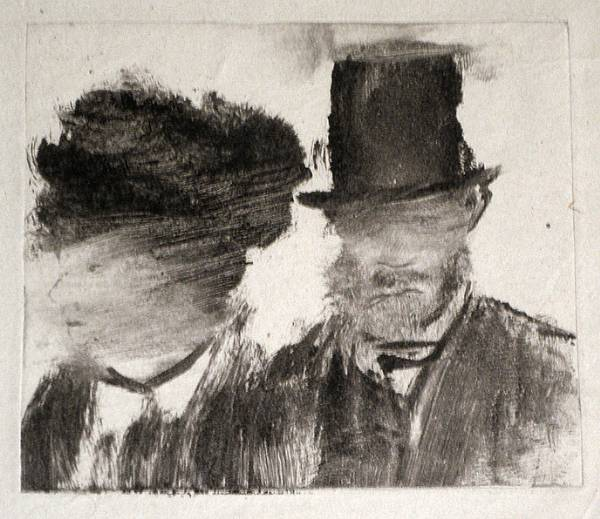 Monotype by Edgar Degas
