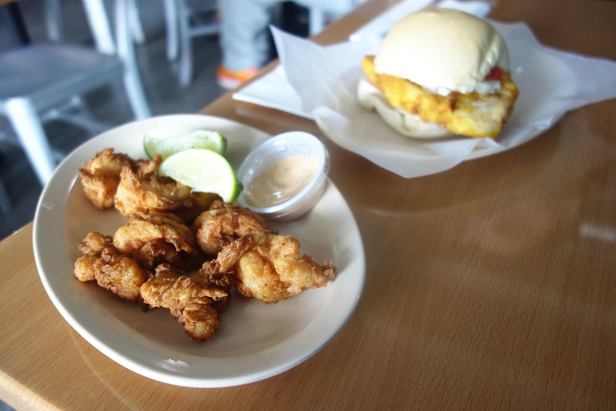 Fried Shrimp and Fried Fish Sandwich at La Camaronera