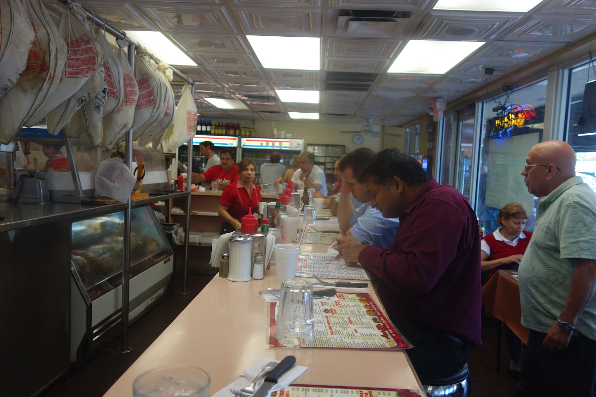 Latin American restaurant counter
