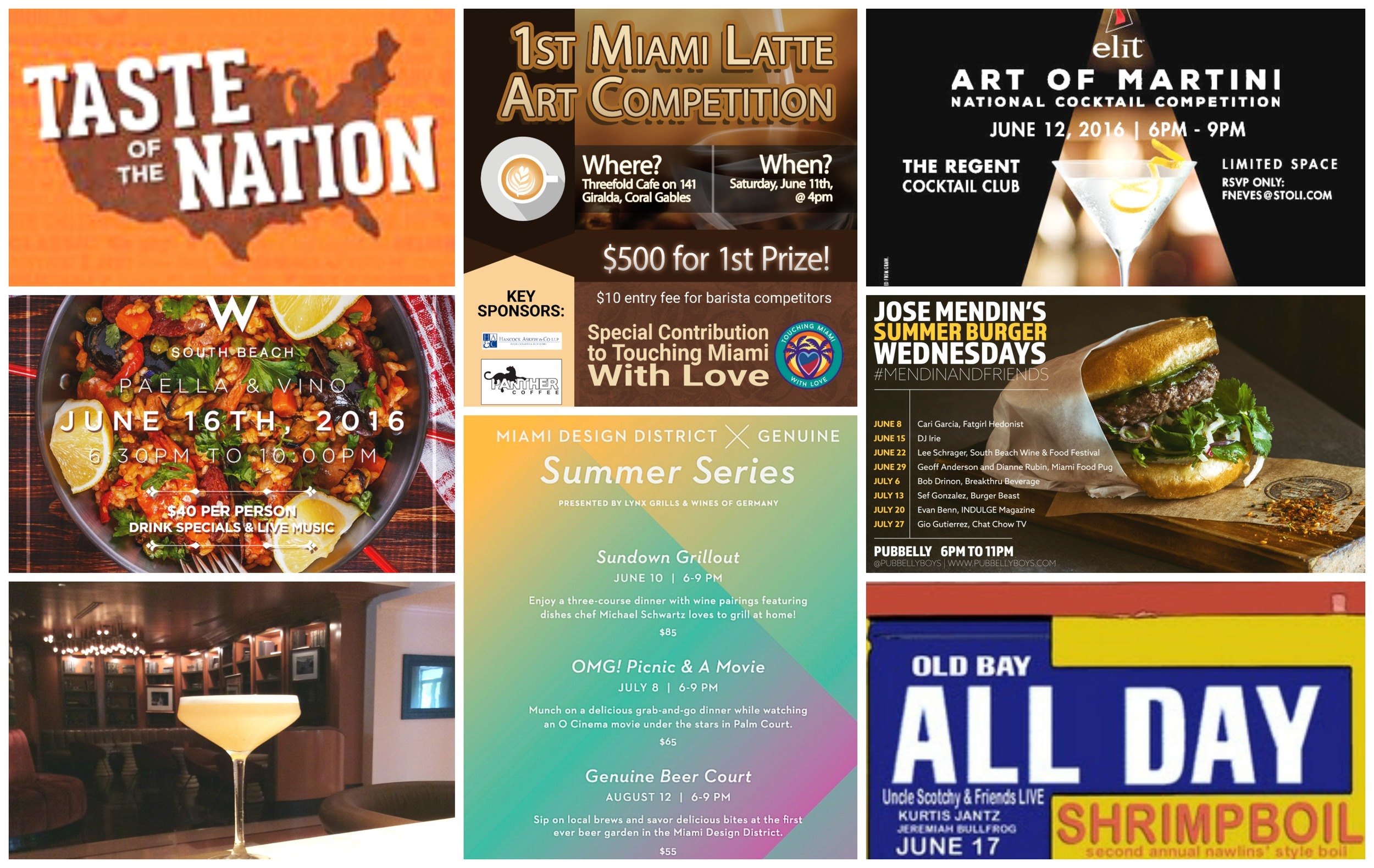 Weekly Nibble Miami food events