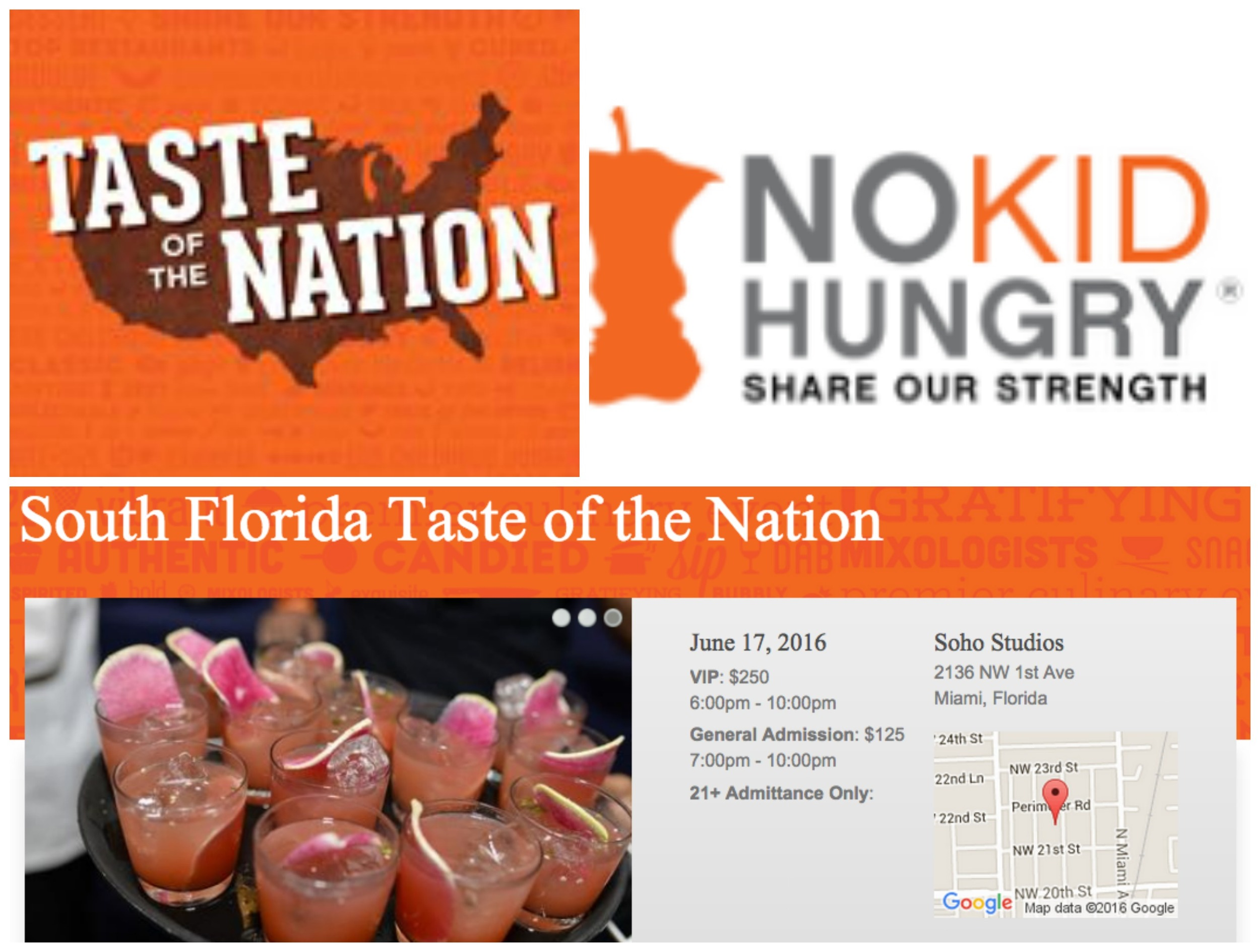 Taste of The Nation No Kid Hungry South Florida