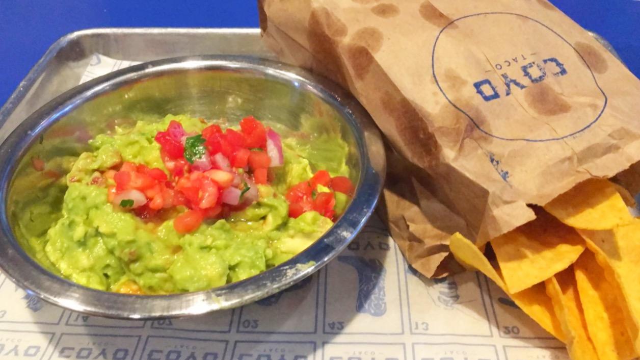 Coyo Taco guacamole chips brickell