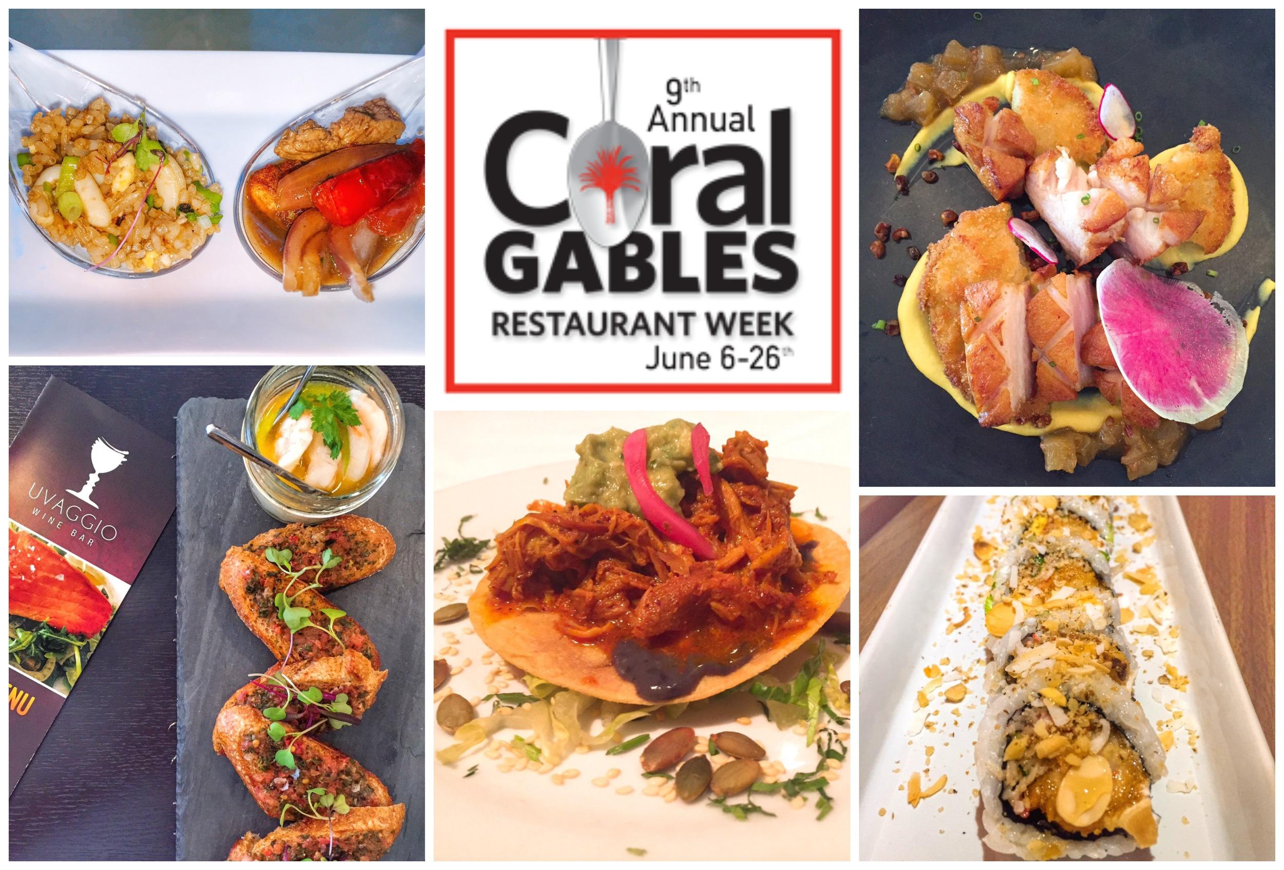 Coral Gable restaurant week 2016