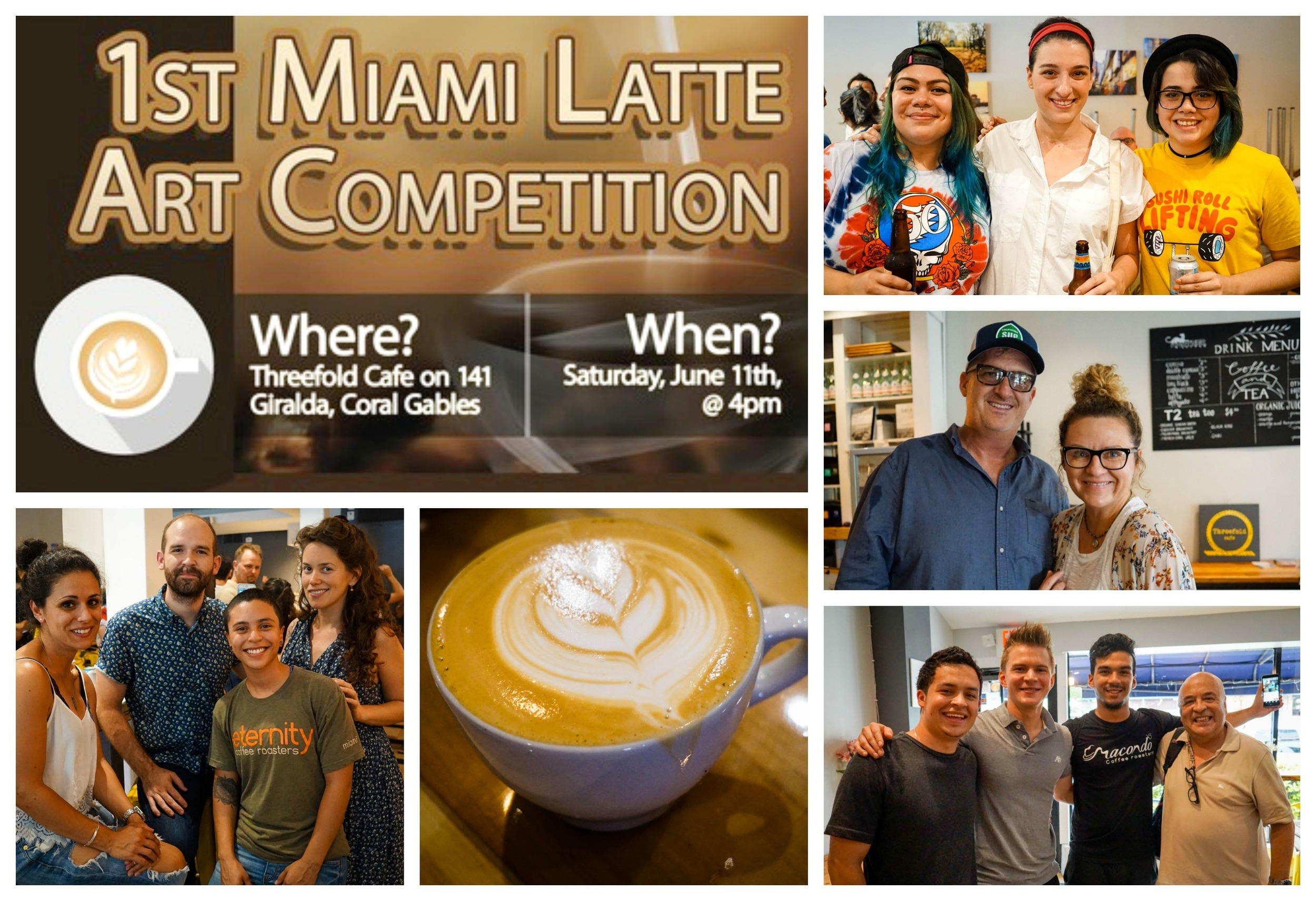 Miami's First Latte Art Competition at Threefold Cafe