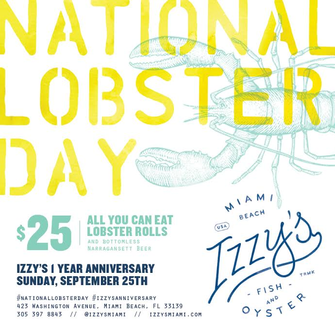 Izzy's Fish & Oyster in Miami Beach Lobster Roll Day