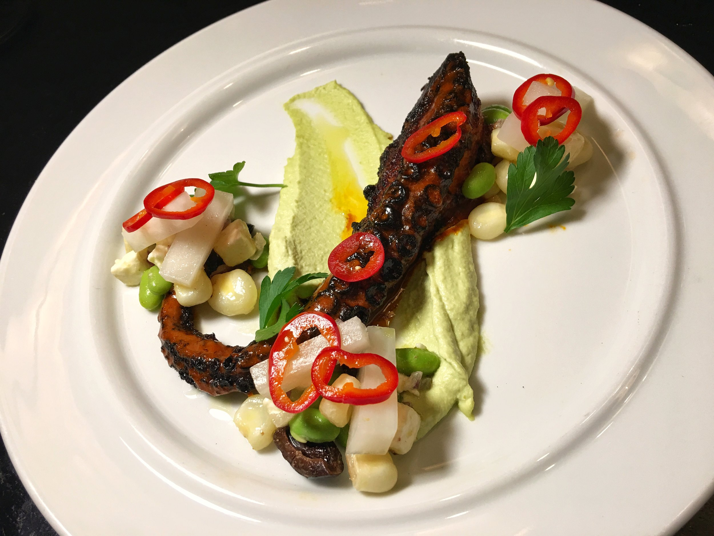 Diplomat Prime grilled octopus