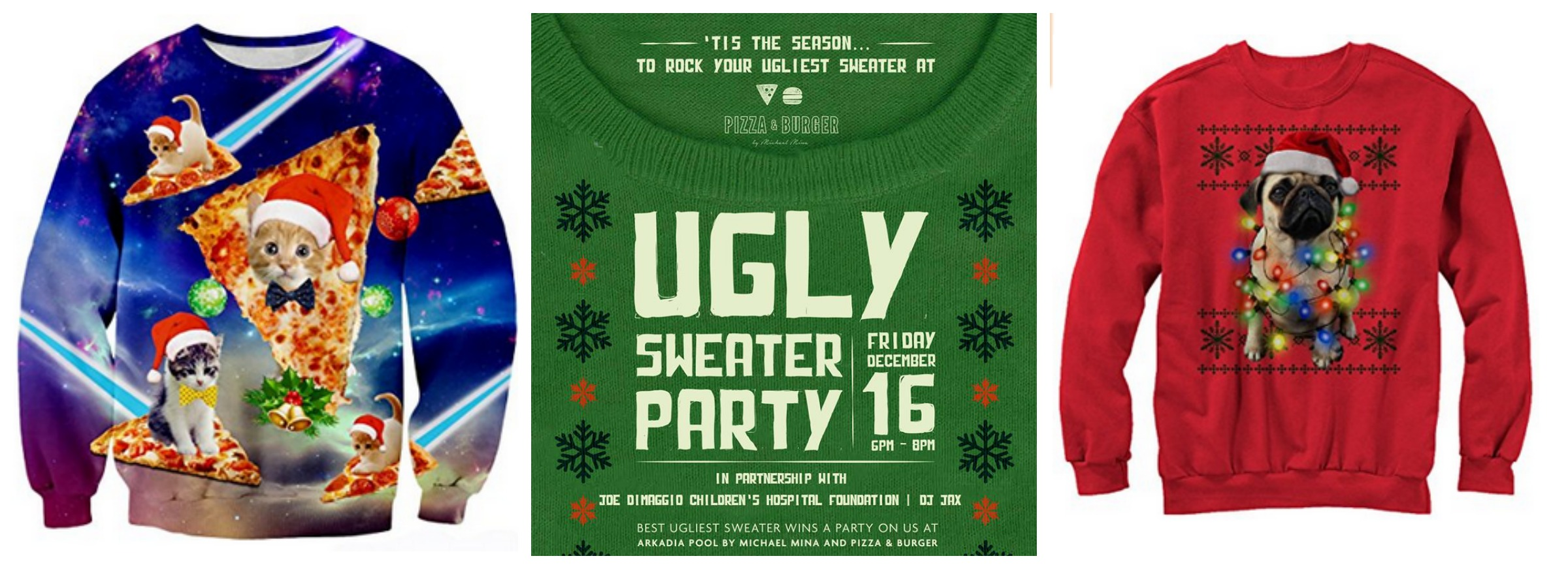 Ugly Sweater Party at Pizza & Burger Miami