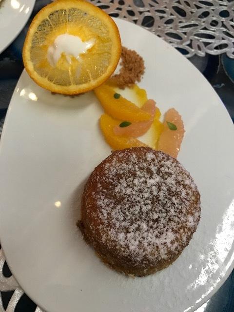 Atlantikos St Regis Orange Pie dessert