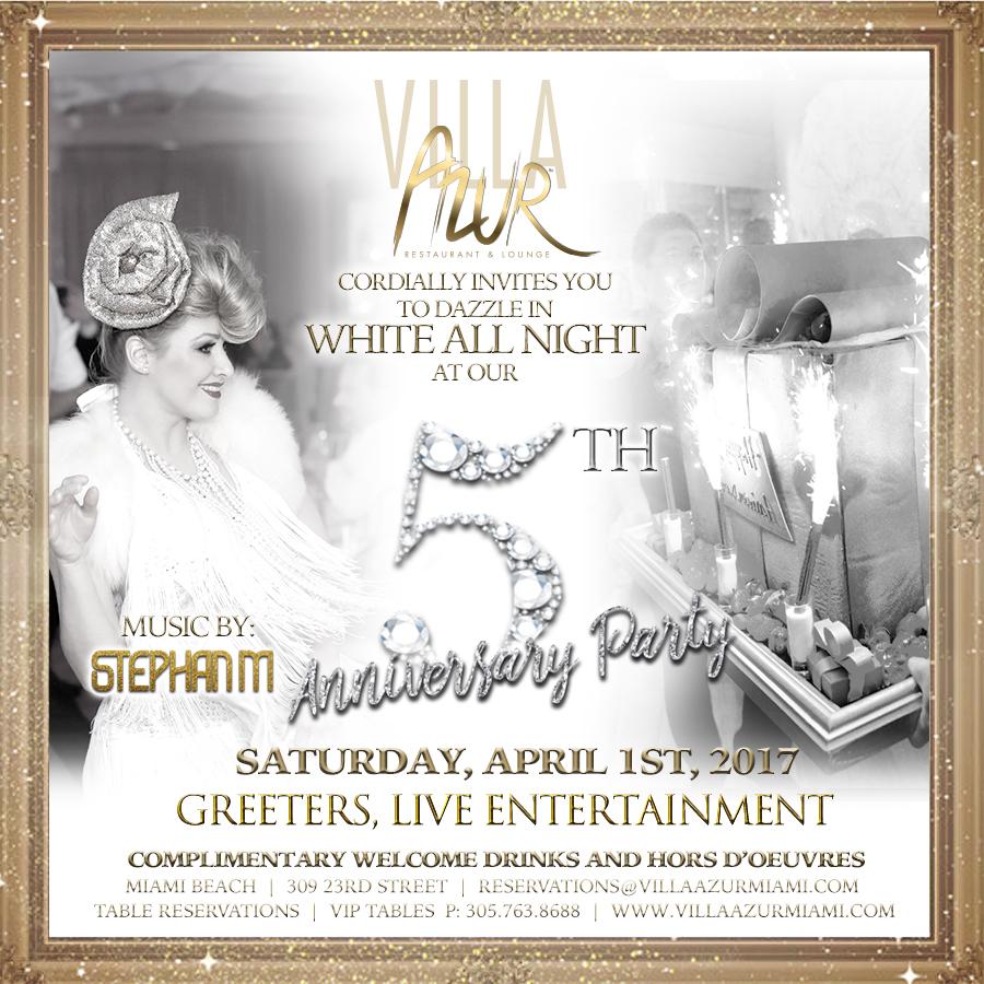 Villa Azur 5th Anniversary White Party