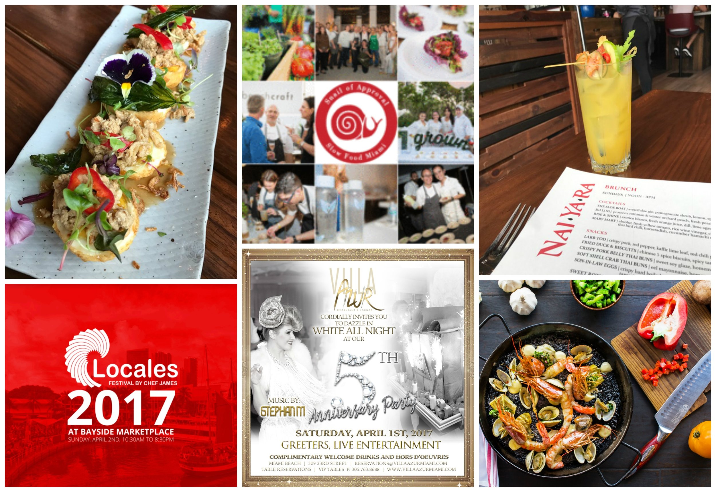 Weekly Nibble Miami Events March 2017