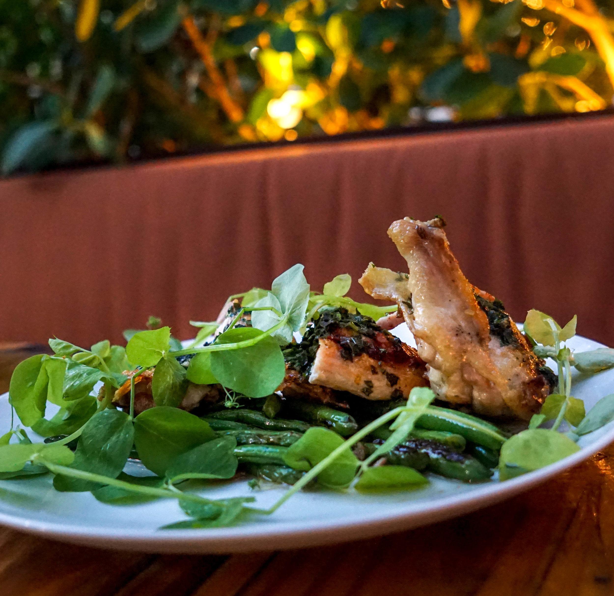 Ariete Wood grilled chicken salsa verde