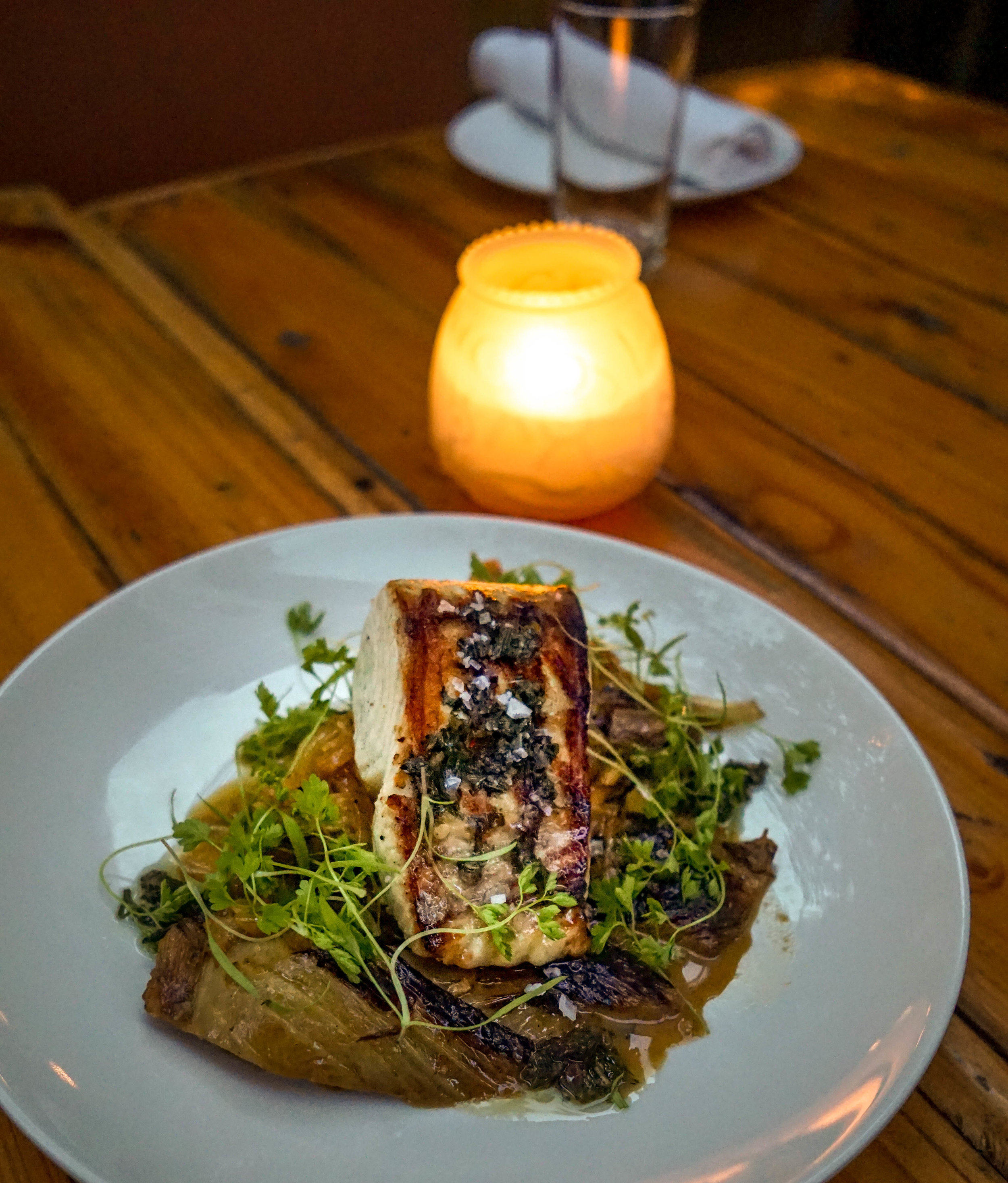Ariete Grilled Wahoo with braised fennel