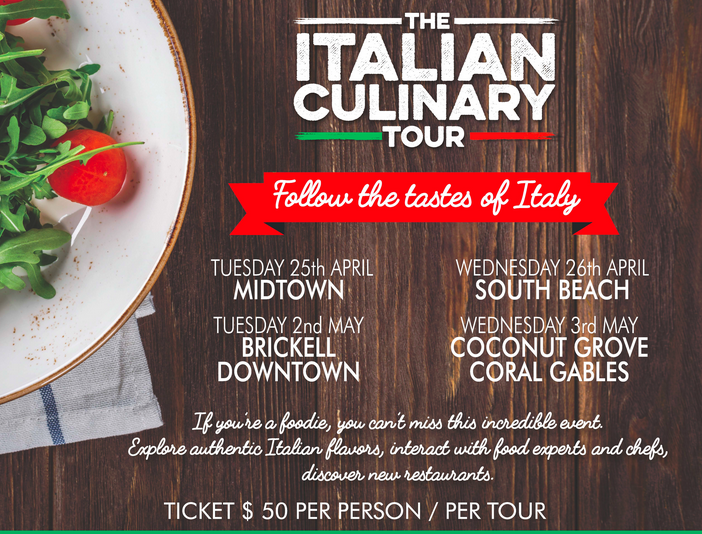 Italy America Chamber of Commerce Culinary Tour