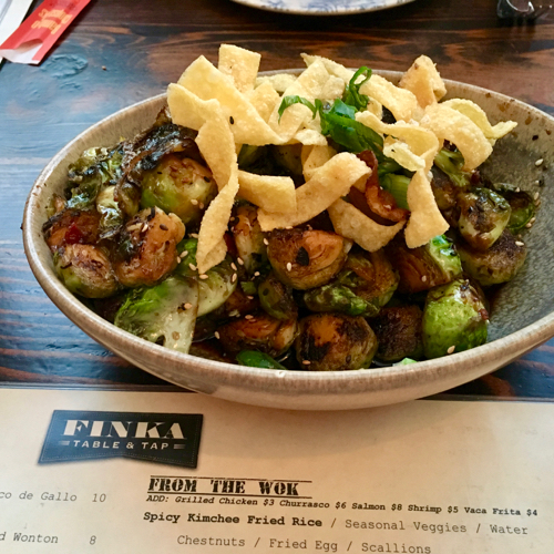 Finka Table and Tap Brussels Sprouts