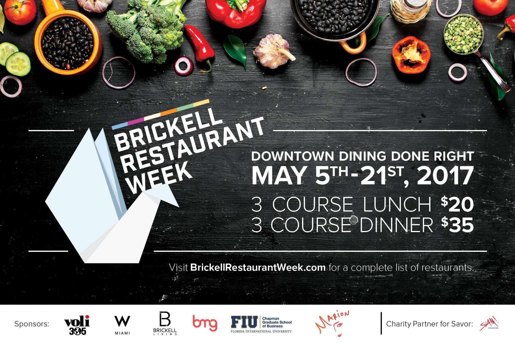 Brickell Restaurant Week 2017