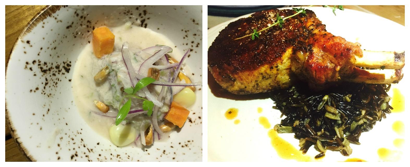 La Mar Ceviche and La Fresca Pork chop
